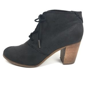 Toms Lunata Stacked Heal Lace Up Bootie